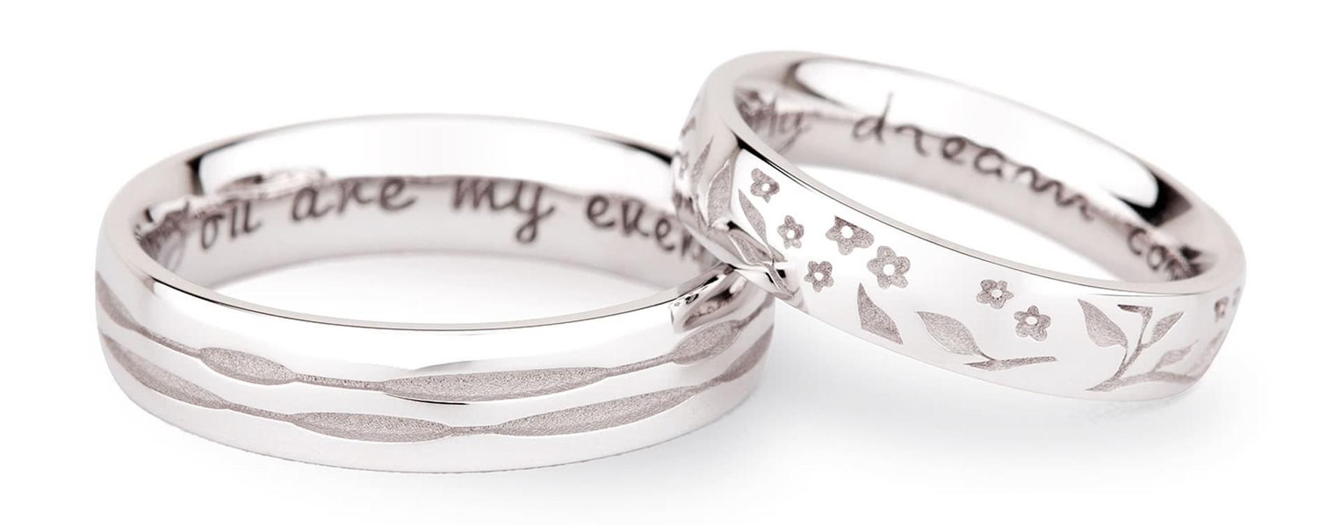 personalisierter Ehering mit Gravur