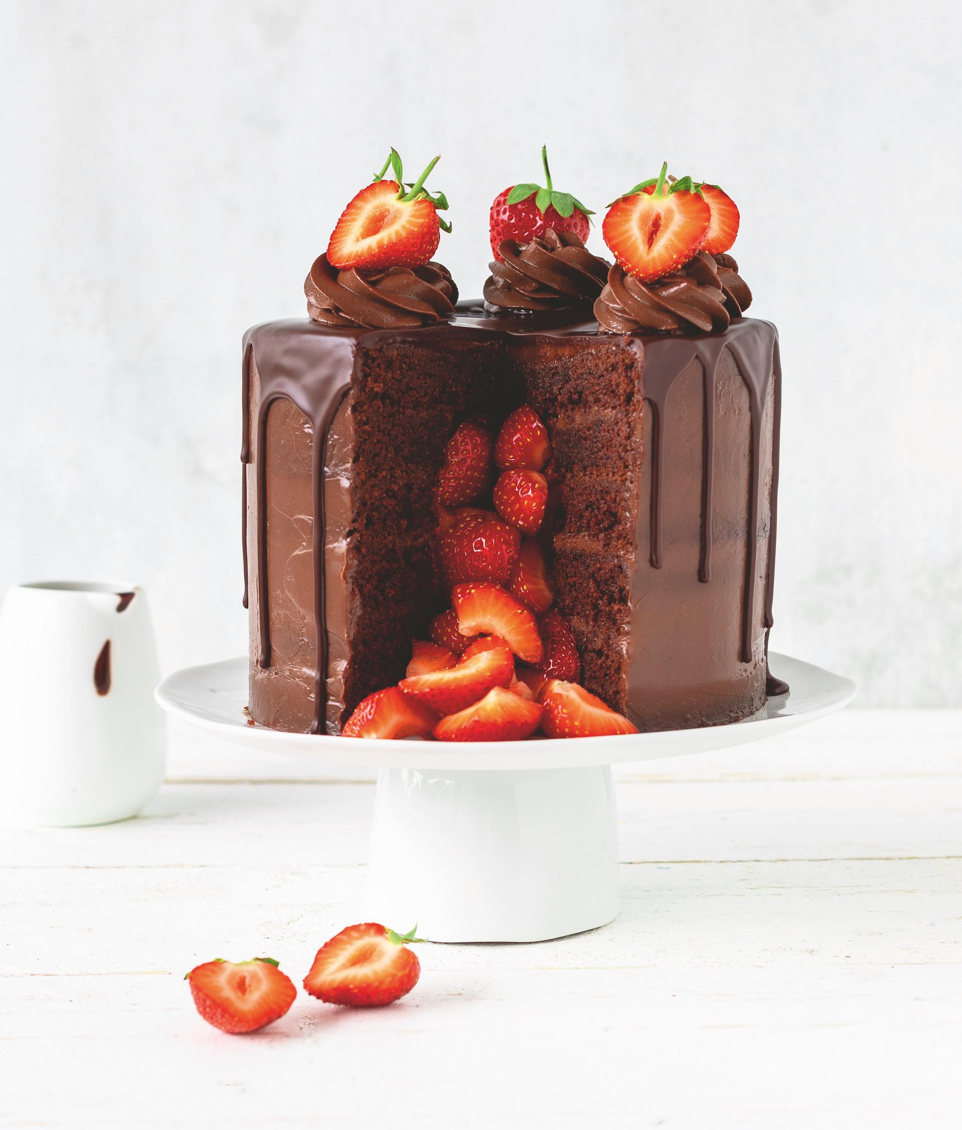 Pinata Erdbeer-Schokoladentorte