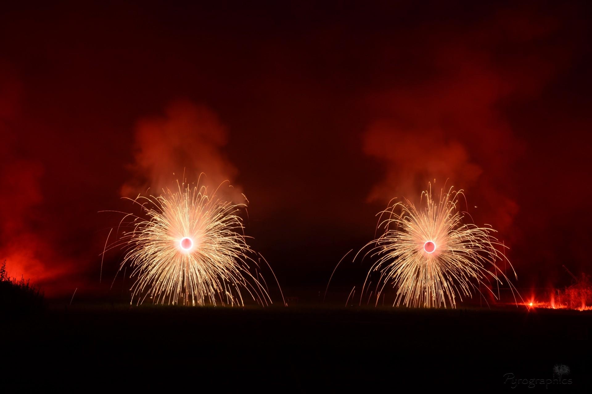 Feuerwerk für die Hochzeit von Pyrographics
