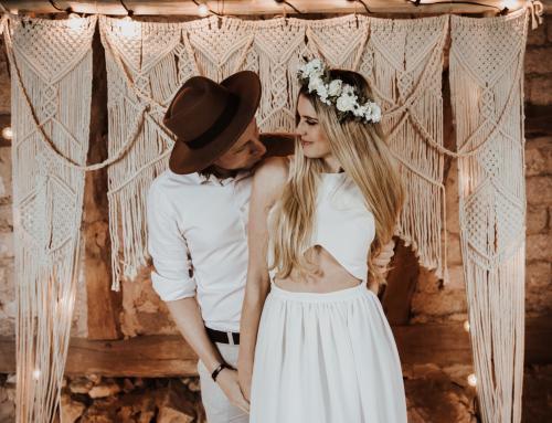 Hochzeitsinspiration: Romantische Zweisamkeit auf dem Gutshof