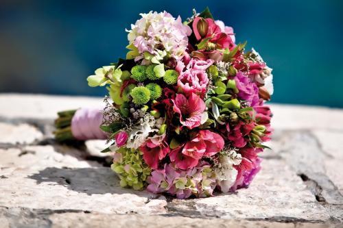 Brautstrauß in Rosa und Grün