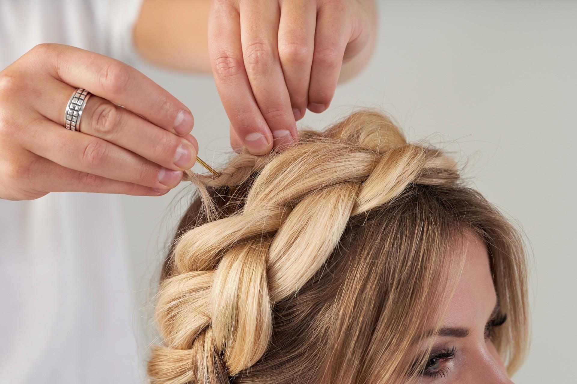 Schöner Haarkranz neu interpretiert