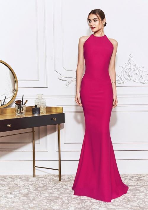 Kleid im Meerjungfrau-Stil mit Neckholder-Ausschnitt und rückenfreien Design mit Schleife von St.Patrick in Pink