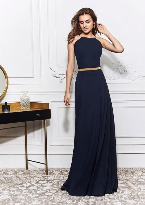 Kleid mit Neckholder-Ausschnitt und rückenfreiem Design von St.Patrick in Dunkelblau