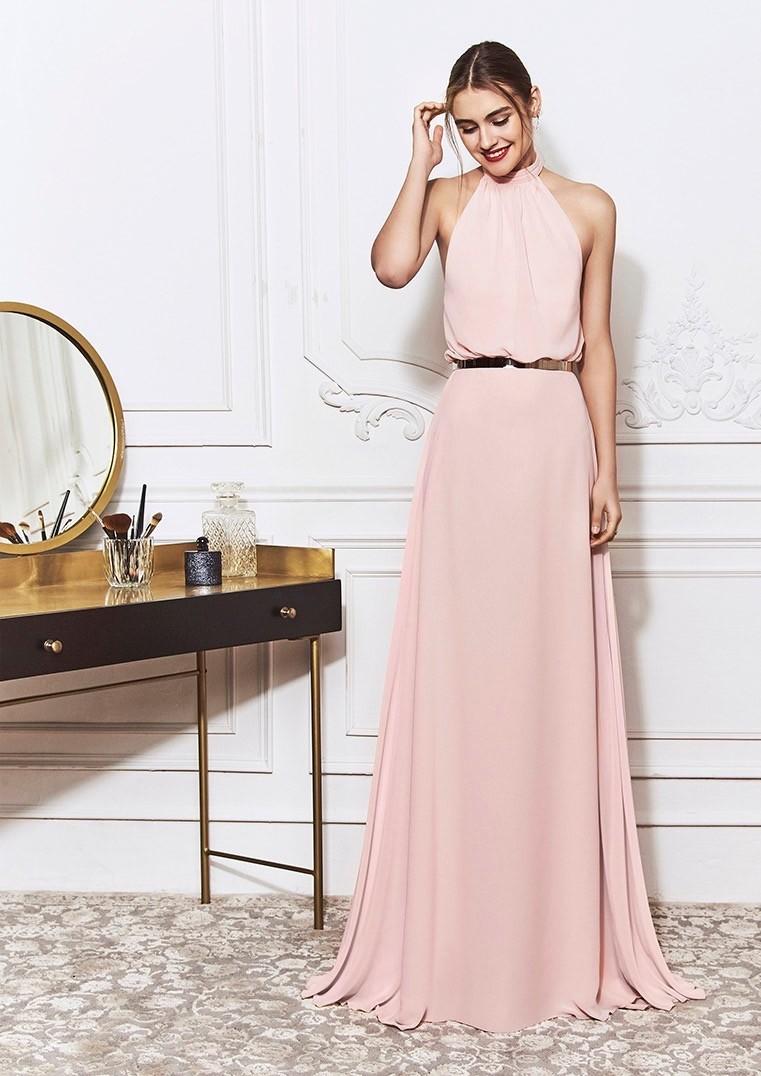 Kleid in A-Linie mit bezauberndem Neckholder-Ausschnitt und großer