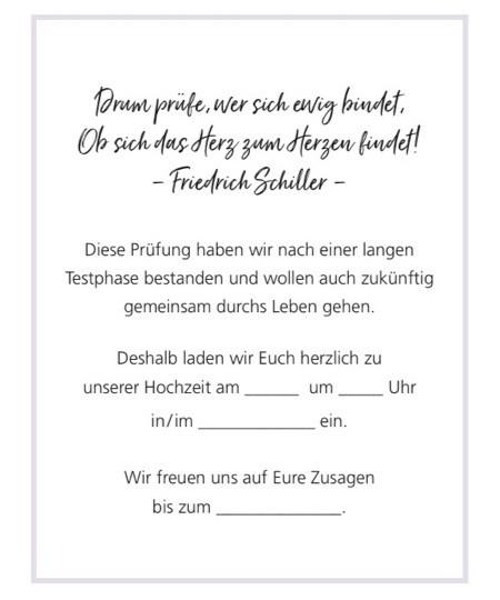 Textidee für Hochzeitseinladung