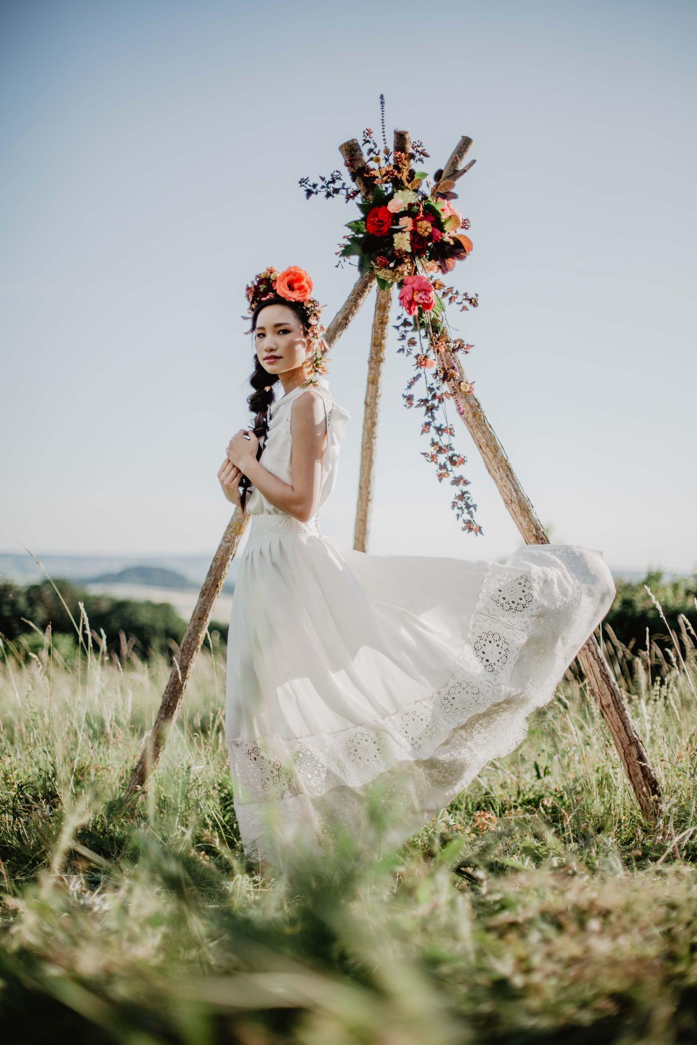 Traditionell Intime Hochzeitszeremonie Heiraten Mit Braut De