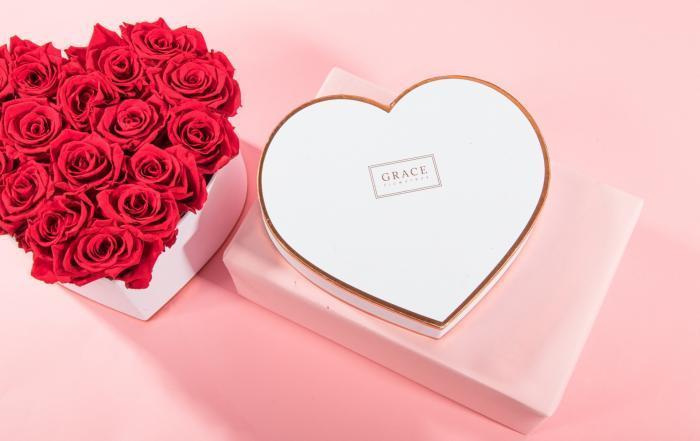 Grace Flowerbox mit haltbaren Rosen